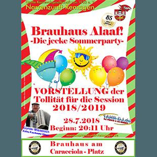 Brauhaus Alaaf! – Die jecke Sommerparty –